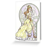 Steampunk Belle Nouveau Greeting Card