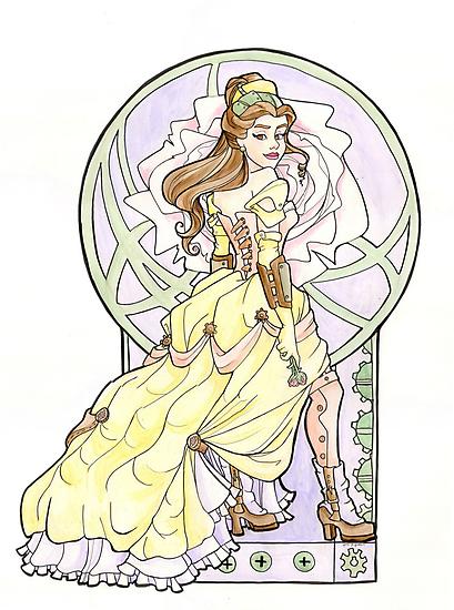 Steampunk Belle Nouveau by Karen  Hallion