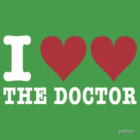 TShirtGifter presents: I heart heart the doctor