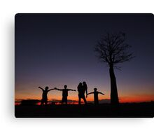 Silhouette family Canvas Print