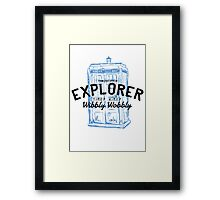 The Doctor - Time and Space Explorer Framed Print