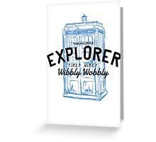 The Doctor - Time and Space Explorer Greeting Card