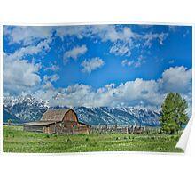 Moulton Barn at Grand Tetons Poster
