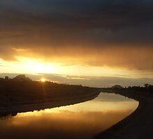 Arizona Canal Sunrise by kurtgregory910