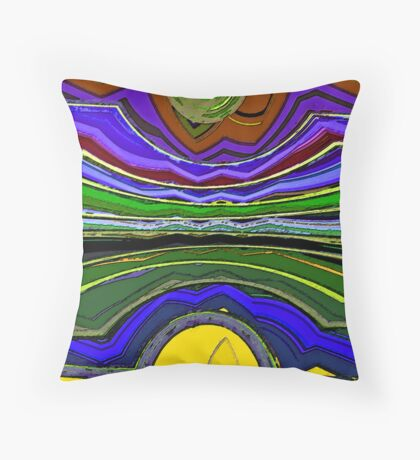 Living in Wyoming Throw Pillow