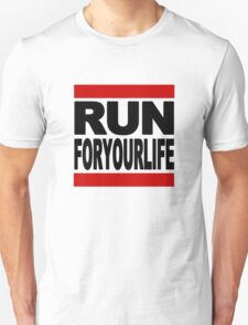 Run-F.Y.L. in black font T-Shirt