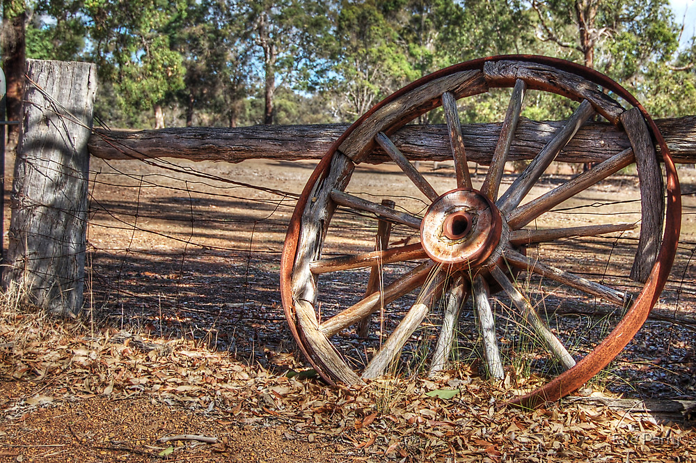 Wagon Wheel In Colour by Eve Parry
