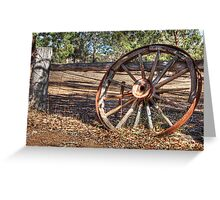 Wagon Wheel In Colour Greeting Card