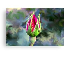 KnockOut Rosebud and Friend Canvas Print