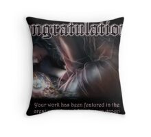 Creative, Talented & Ubknown Banner Throw Pillow