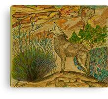 desert yelp Canvas Print
