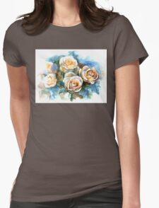 Watercolor bunch of white roses T-Shirt