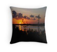 Saturated Sunset- Merritt Island NWR Throw Pillow