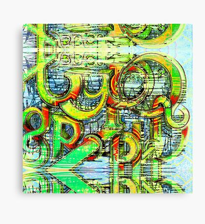 Abstract Typography Canvas Print
