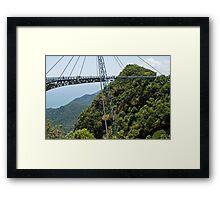 Sky Bridge - Langkawi Framed Print