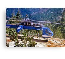 Helicopter Logging 2 Metal Print
