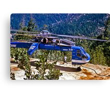 Helicopter Logging 2 Canvas Print