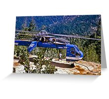 Helicopter Logging 2 Greeting Card