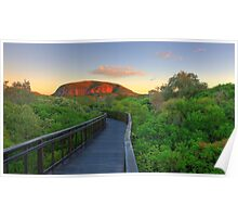 First Rays on Coolum Poster