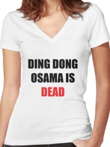 Osama Is Dead Women's Fitted V-Neck T-Shirt