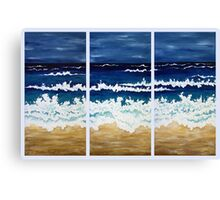 'BEFORE THE STORM' tryptych acrylic textured seascape Canvas Print