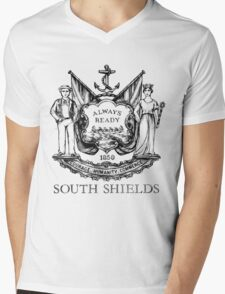 South Shields Coat of Arms II Mens V-Neck T-Shirt