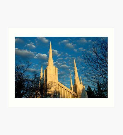 Portland Oregon LDS Temple Art Print