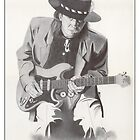 Stevie Ray Vaughan Portrait by Jimmy Bell