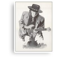 Stevie Ray Vaughan Portrait Canvas Print