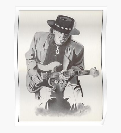 Stevie Ray Vaughan Portrait Poster