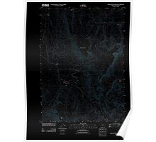 USGS Topo Map Oregon Star Creek Reservoir 20110819 TM Inverted Poster