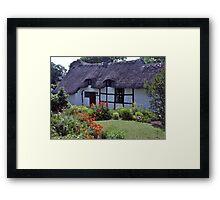 Cottage garden, Stratford-upon-Avon, UK Framed Print