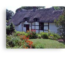 Cottage garden, Stratford-upon-Avon, UK Canvas Print