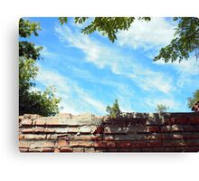 Detail of a blue sky with clouds Canvas Print