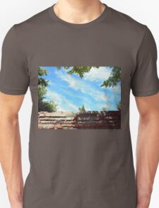 Detail of a blue sky with clouds T-Shirt