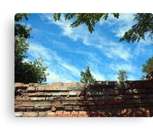 Frame of a blue sky with clouds Canvas Print