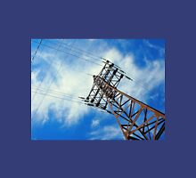 Upward view on power lines Unisex T-Shirt