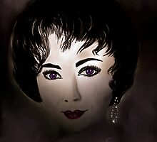Portrait Elizabeth Taylor by Trish Loader