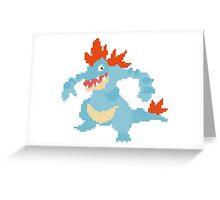 feraligator pixel Greeting Card