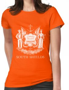 South Shields Coat of Arms White Womens Fitted T-Shirt