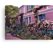 Roses, Claude Monet's Home, Giverny, France. Canvas Print