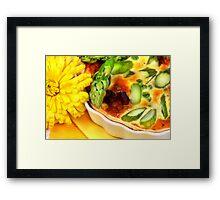 Asparagus, Peas and Bacon  Framed Print