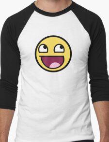 Awesome Smiley Men's Baseball ¾ T-Shirt