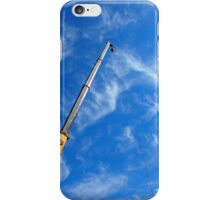 The boom of the crane on a diagonal against a blue sky  iPhone Case/Skin