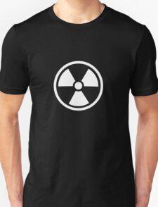 Radioactive - ionizing radiation hazard symbol (white) T-Shirt
