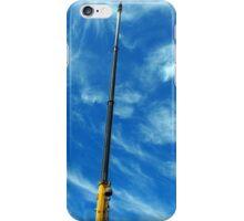 Upward view on the boom of a crane  iPhone Case/Skin