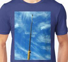 Upward view on the boom of a crane  Unisex T-Shirt