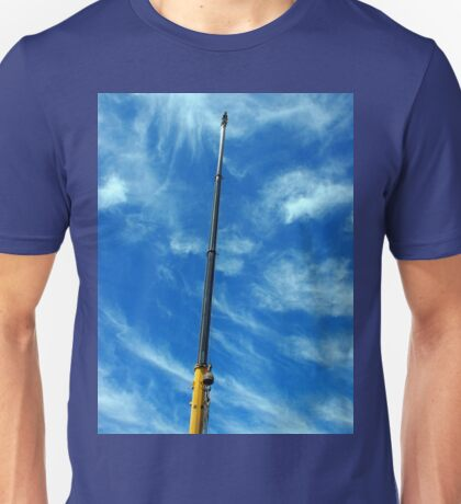 Upward view on the boom of a crane  Unisex T-Shirt