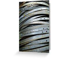 Barrel hoops. Greeting Card