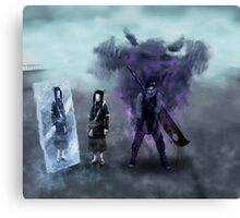 Zabuza and Haku in the mist Canvas Print